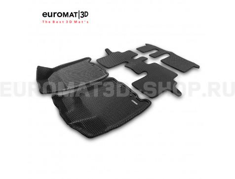 3D коврики Euromat3D EVA в салон для Infiniti JX, QX60 (2012-2015-) № EM3DEVA-003723
